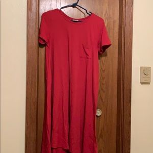 Solid red Carly dress